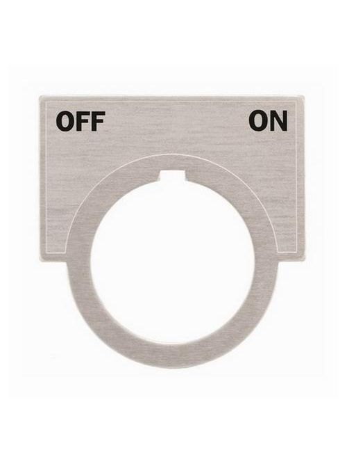 Siemens Industry 52NL26 2 x 1-7/16 Inch Off-On Brushed Aluminum Large Push Button Legend Plate