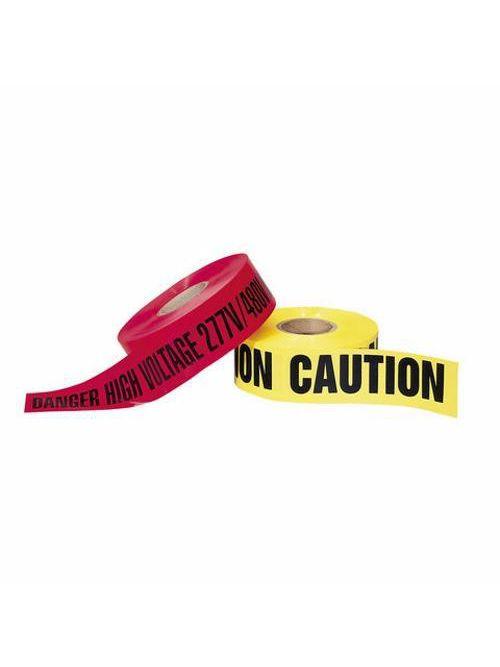 Ideal Industries 42-001 3 Inch x 1000 Foot Yellow Polyethylene Caution Barricade Tape