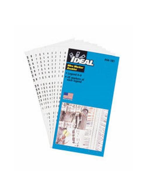Ideal Industries 44-102 1/4 x 1-1/2 Inch Plastic Impregnated Cloth A to Z 0 to 15 + -/Legend Wire Marker Booklet