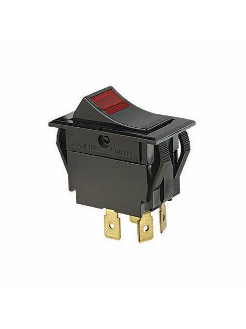 Ideal Industries 774056 10/15 Amp 125/277 VAC DPST On-Off Spade Terminal Red Rocker Switch