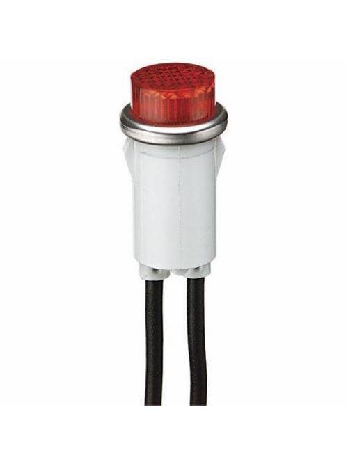 Ideal Industries 776311 1.2 W 28 VAC/VDC 25000 Hour Amber Polycarbonate Lens Nylon Raised Transparent Indicator Light