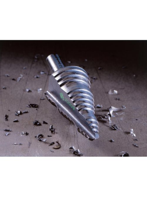 Greenlee 30008 1-1/8 x 2-15/16 Inch Steel Self Feed Screw Point Step Bit