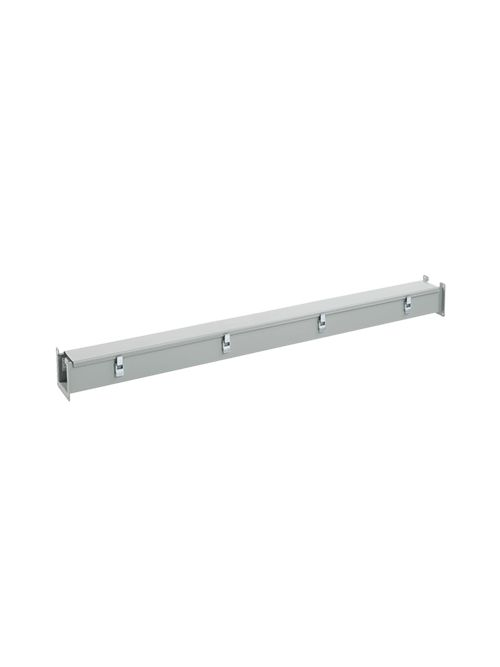 Hoffman F22L120 2.5 x 2.5 x 120 Inch NEMA 12 Gray Steel Lay-In Wireway Straight Section