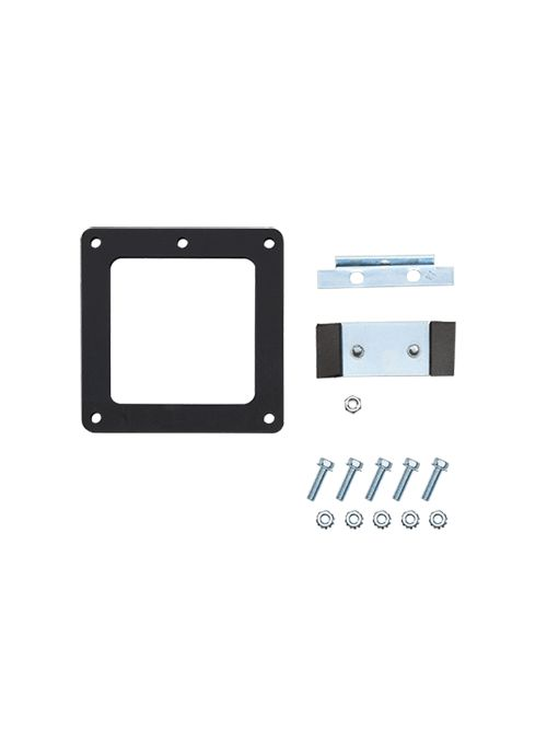 Hoffman F22LSAG 2.5 x 2.5 Inch NEMA 12 Gray Steel Lay-In 90 Degrees Wireway Sealing Plate