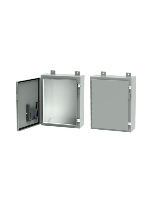 Hoffman A242408LP 24 x 24 x 8 Inch White/Gray 16 Gauge Steel NEMA 12 Wall Mount Enclosure