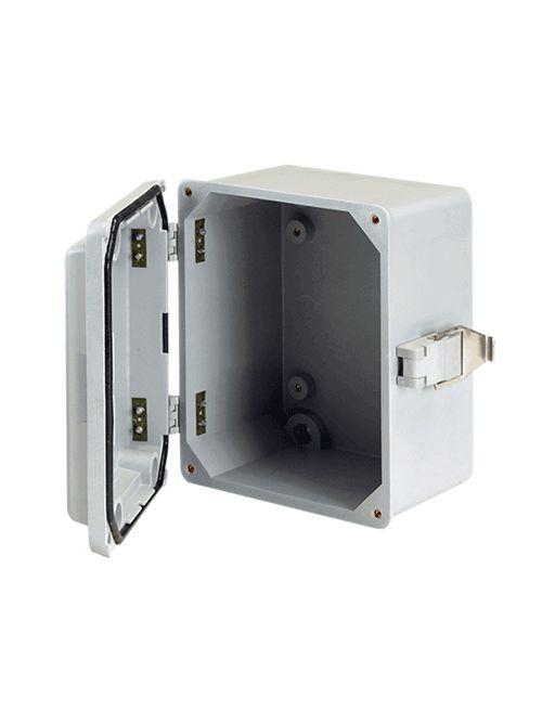 Hoffman A645JFGR 6 x 4 x 5 Inch Fiberglass NEMA 4X Junction Box