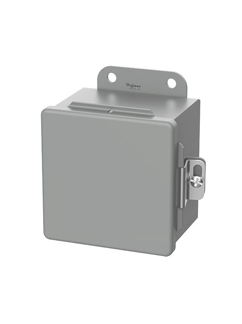 Hoffman A1212CH 12 x 12 x 6 Inch Gray 14 Gauge Steel NEMA 12 Junction Box