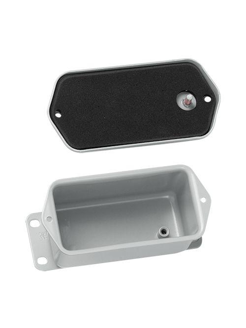 Hoffman A402DSC 4 x 2 x 2 Inch 16 Gauge Steel NEMA 4 Contoured Junction Box Screw Cover