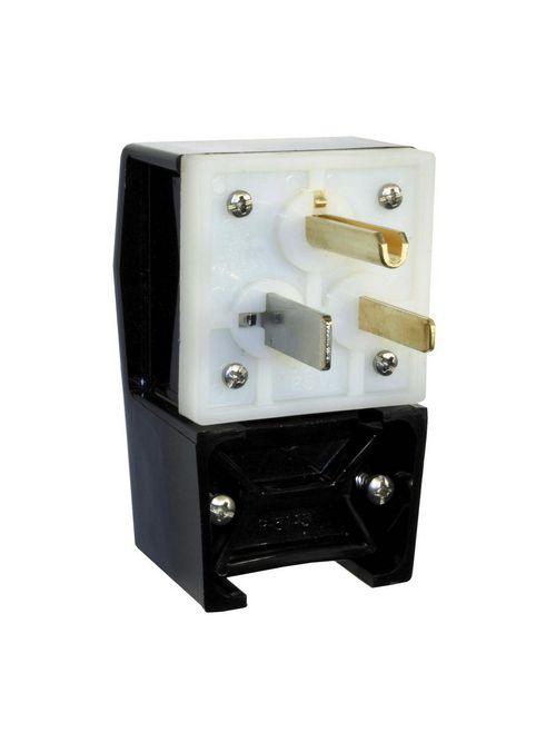 Hubbell Wiring Devices HBL9361 50 Amp 125 Volt 2-Pole 3-Wire NEMA 5-50P Black Nylon Straight Blade Plug