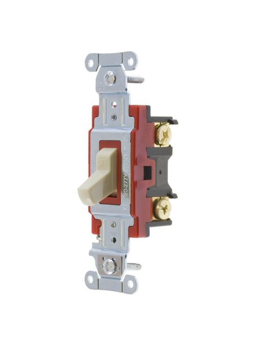 Hubbell Wiring Devices 1222I 20 Amp 120/277 VAC 2-Pole Ivory Toggle Switch