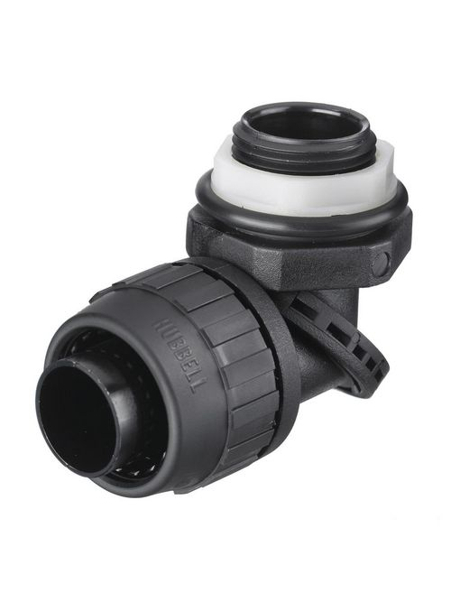 Hubbell Wiring Devices PS0759NBK 3/4 Inch Black Male Non-Metallic Liquidtight Connector