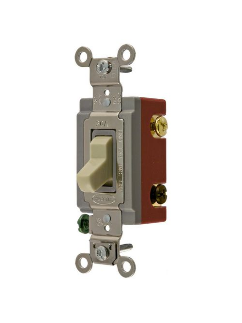 Hubbell Wiring Devices HBL1224I 20 Amp 120/277 VAC 4-Way Ivory Toggle Switch