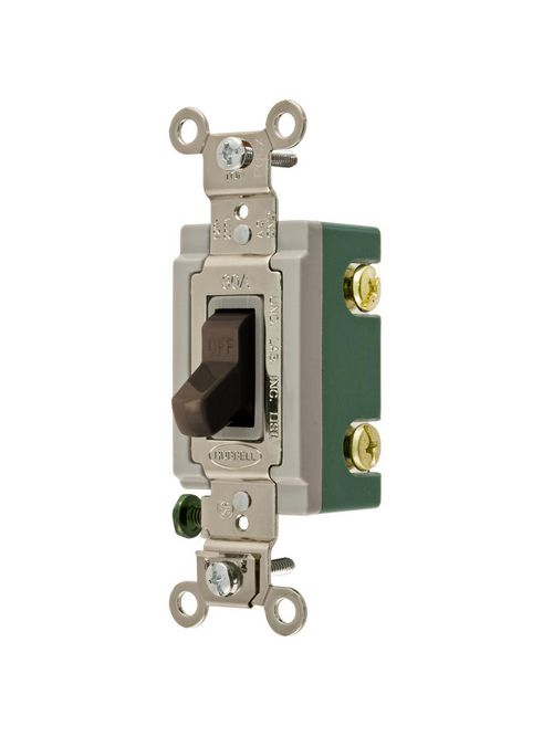 Hubbell Wiring Devices HBL3032 30 Amp 120/277 VAC 2-Pole Brown Toggle Switch