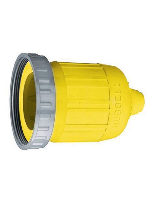 Hubbell Wiring Devices HBL60CM33 Yellow Straight Blade Weatherproof Boot