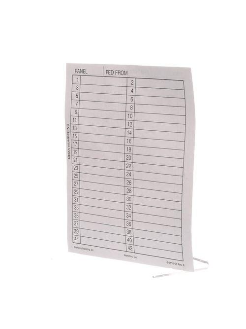 Siemens Industry 11-1824-01 Vinyl Directory Panelboard Card Holder