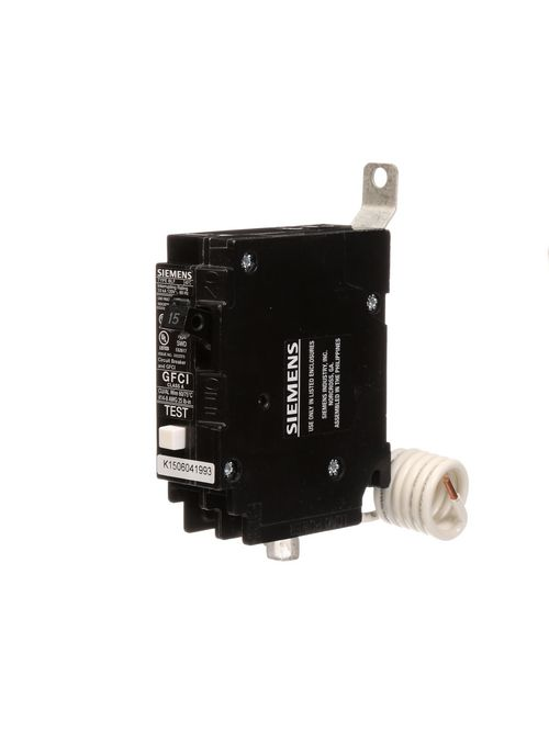 Siemens Industry BF115 1-Pole 15 Amp 120 Volt 10 K 5 mA Circuit Breaker