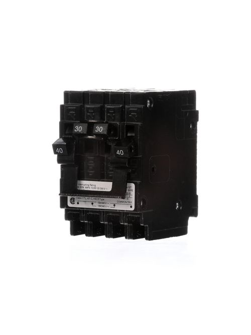 Siemens Industry Q24030CT2 2-Pole 120/240 VAC 40/30 Amp 10 kA Plug-In Common Trip Quadplex Circuit Breaker
