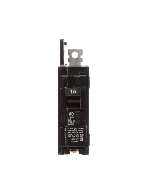 Siemens Industry BQ1B015 1-Pole 15 Amp 120 Volt 10 K Circuit Breaker