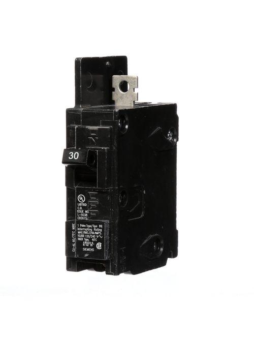Siemens Industry BQ1B030 1-Pole 30 Amp 120 Volt 10 K Circuit Breaker