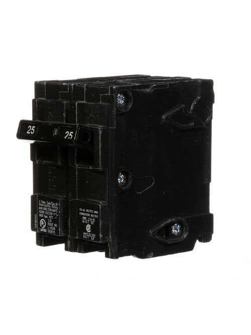 Siemens Industry Q225 2-Pole 120/240 VAC 25 Amp 10 kA Plug-In Common Trip Circuit Breaker