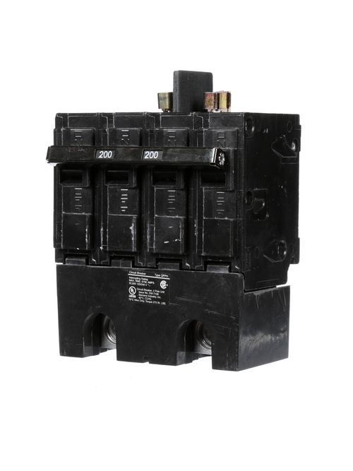 Siemens Industry Q2200BH 2-Pole 120/240 VAC 200 Amp 22 kA Common Trip Molded Case Circuit Breaker