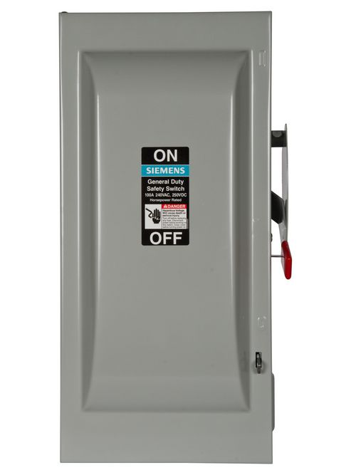 Siemens Industry GNF323 240 VAC/250 VDC 100 Amp 3-Pole 3-Wire NEMA 1 General Duty Non-Fusible Safety Switch