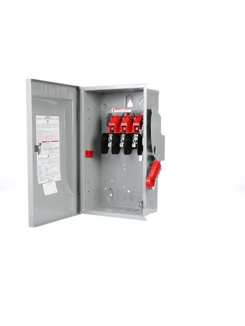 Siemens Industry HNF362 240/480/600 VAC 250/600 VDC 60 Amp 3-Pole 3-Wire NEMA 1 Heavy Duty Non-Fusible Safety Switch