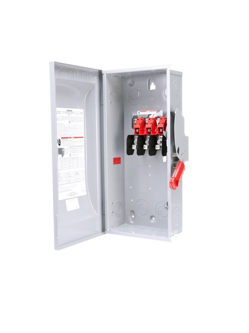 Siemens Industry HNF363 240/480/600 VAC 250/600 VDC 100 Amp 3-Pole 3-Wire NEMA 1 Heavy Duty Non-Fusible Safety Switch