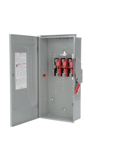 Siemens Industry HNF364R 240/480/600 VAC 250/600 VDC 200 Amp 3-Pole 3-Wire NEMA 3R Heavy Duty Non-Fusible Safety Switch