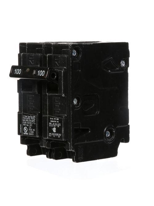 Siemens Industry Q2100H 2-Pole 120/240 VAC 100 Amp 22 kA Plug-In Common Trip Circuit Breaker