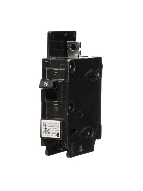 Siemens Industry BQ1B020H 1-Pole 20 Amp 120 Volt 22 K Circuit Breaker