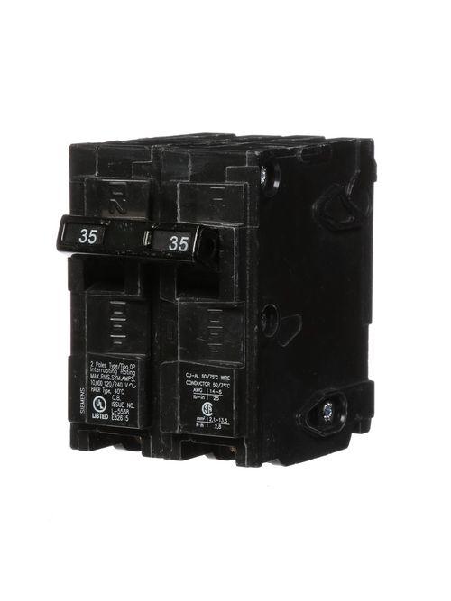 Siemens Industry Q235 2-Pole 120/240 VAC 35 Amp 10 kA Plug-In Common Trip Circuit Breaker