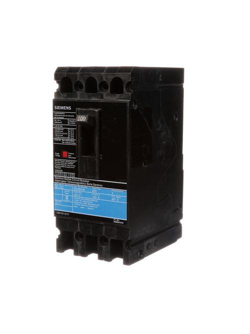 Siemens Industry ED23B100L 3-Pole 100 Amp 240 VAC 10 kA Molded Case Circuit Breaker