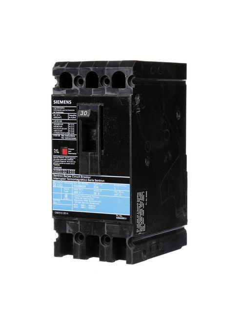 Siemens Industry ED43B030 3-Pole 30 Amp 480 VAC 18 kA Circuit Breaker Lug
