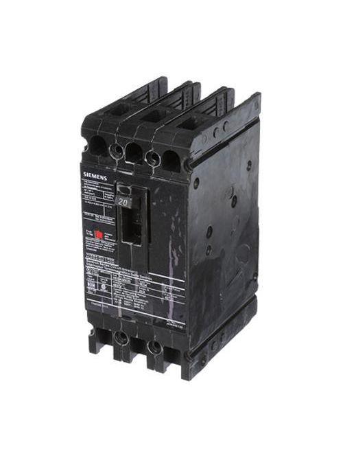 Siemens Industry HED43B020 3-Pole 480 VAC 20 Amp 42 kA Plug-In Thermal Magnetic Molded Case Circuit Breaker