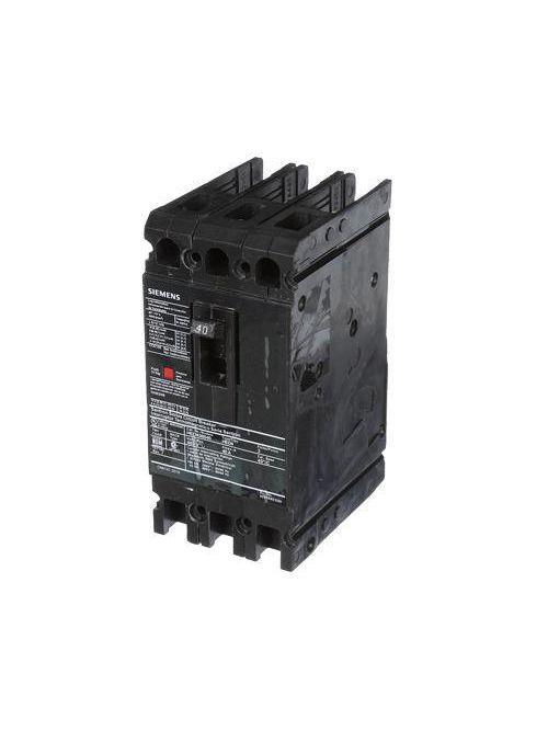 Siemens Industry HED43B040 3-Pole 480 VAC 40 Amp 42 kA Plug-In Thermal Magnetic Molded Case Circuit Breaker