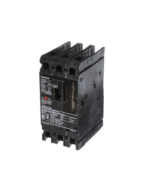 Siemens Industry HED43B060 3-Pole 480 VAC 60 Amp 42 kA Plug-In Thermal Magnetic Molded Case Circuit Breaker