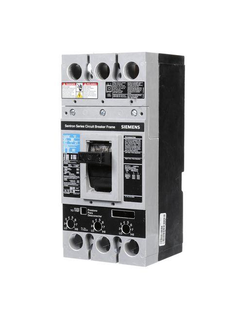 Siemens Industry FD63F250 3-Pole 600 VAC 250 Amp 22 kA Interchangeable Trip Thermal Magnetic Molded Case Circuit Breaker Frame