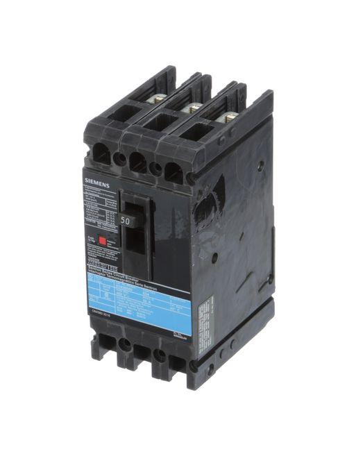 Siemens Industry ED43B050L 3-Pole 50 Amp 480 VAC 18 kA Circuit Breaker Lugs