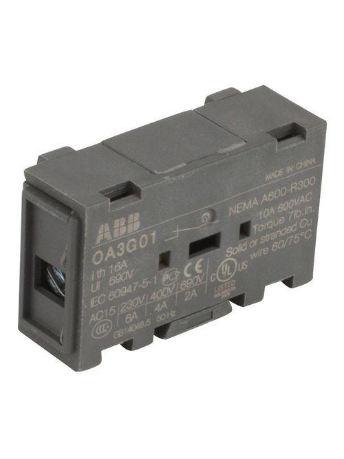 ABB OA3G01 AUX SWITCH 1NC OS/OT