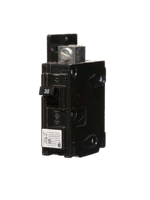 Siemens Industry BQ1B030L 1-Pole 30 Amp 120 Volt 10 K Circuit Breaker Line Lugs