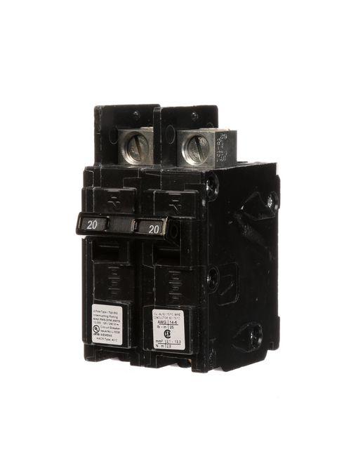 Siemens Industry BQ2B020L 2-Pole 20 Amp 120/240 Volt 10 K Circuit Breaker Line Lug