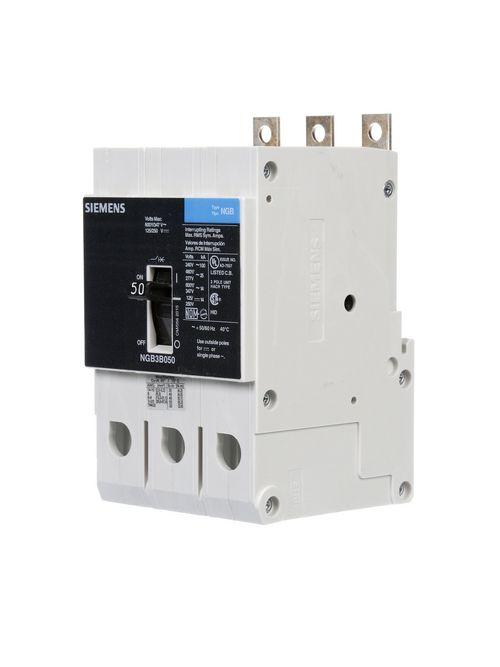 Siemens Industry NGB3B050B 3-Pole 600 Star/347 VAC 50 Amp 14 kA Panelboard Mount Molded Case Circuit Breaker
