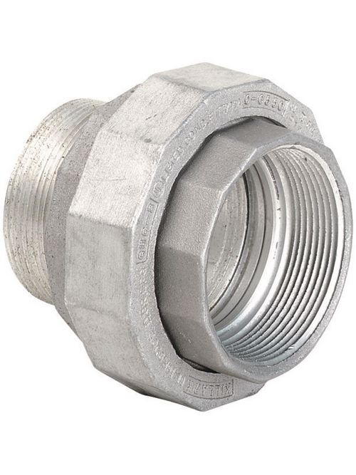 Hubbell Electrical Systems UNY4 1-1/4 Inch Zinc Plated Iron Male to Female Conduit Union