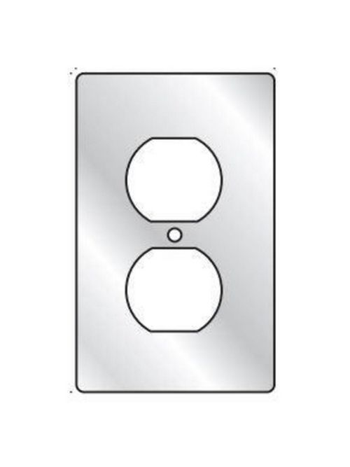 Hubbell Electrical Systems 1FA 1-Gang Aluminum Duplex Receptacle Cover