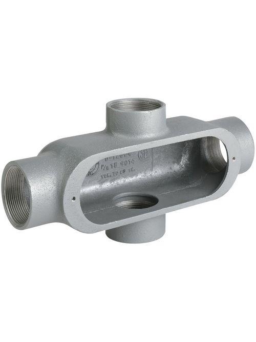 Hubbell Electrical Systems OX-4M 1-1/4 Inch Malleable Iron Type X Conduit Body