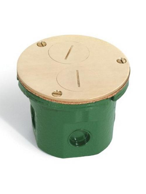 Lew Electrical Fittings Company 812-DFB Non-Adjustable Floor Box with Screw Plugs