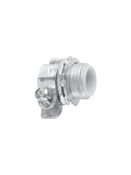 Crouse-Hinds Series 1712 1-1/2 Inch Malleable Iron Insulated Squeeze Type Straight FMC Connector