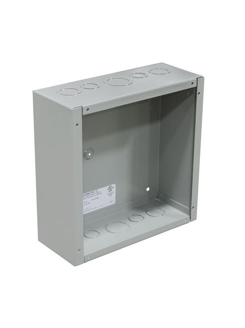 Milbank 10801 664-SC1 6 x 6 x 4 Inch NEMA 1 Gray Polyester Powder Coated G90 Steel Screw Cover Junction Box