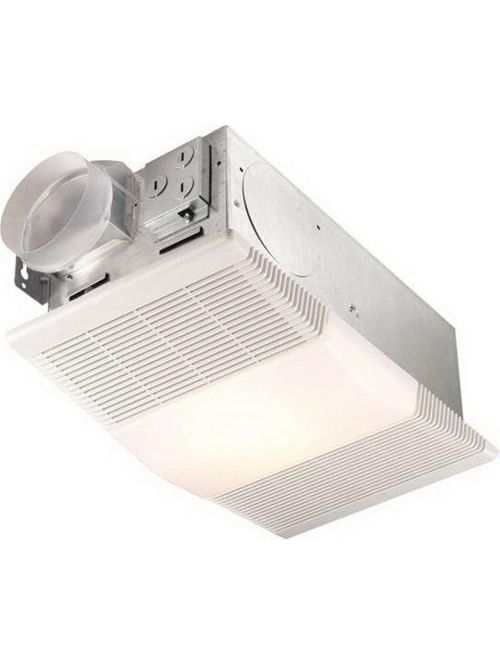 Broan 665RP 12.5 Amp 70 CFM 4 Sones 1300 W 9-7/8 x 16-1/4 x 1-3/4 Inch White Polymeric Grille Ventilation Fan/Heater with Lamp